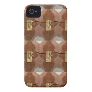 Miniature lock pattern brass shine fashion DIY fun iPhone 4 Case