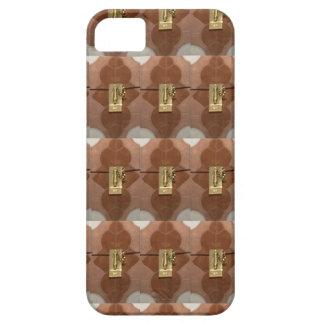 Miniature lock pattern brass shine fashion DIY fun iPhone 5 Covers