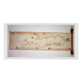 Miniature Nautical Map of the Adriatic, 1624 (parc Poster