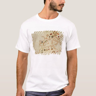 Miniature Nautical Map of the Central Mediterranea T-Shirt