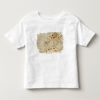 Miniature Nautical Map of the Central Mediterranea Toddler T-shirt