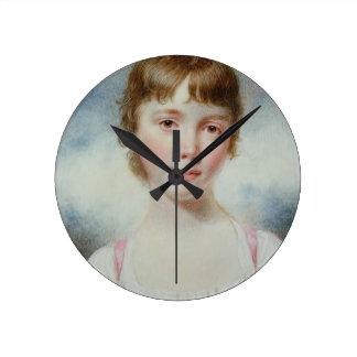 Miniature of a young girl wallclock
