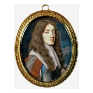 Miniature of James II as the Duke of York, 1661 Postcard