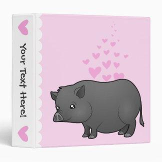 Miniature Pig Love Vinyl Binder