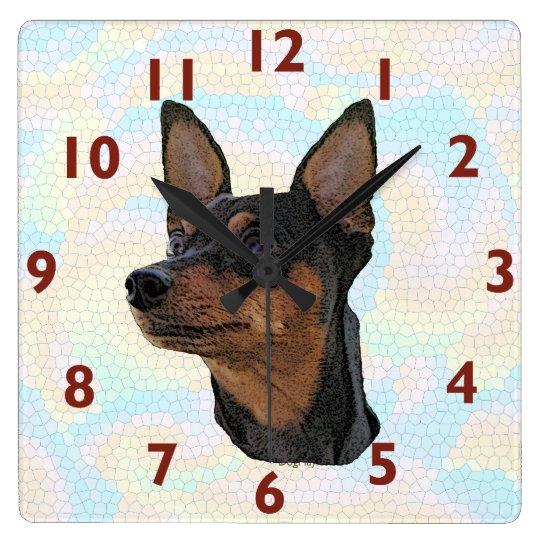 Miniature Pinscher Art Wall Clock
