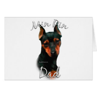 Miniature Pinscher (blk) Dad 2 Card