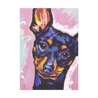 Miniature Pinscher Bright Colorful Pop Dog Art Canvas Print