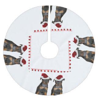 Miniature Pinscher Brushed Polyester Tree Skirt