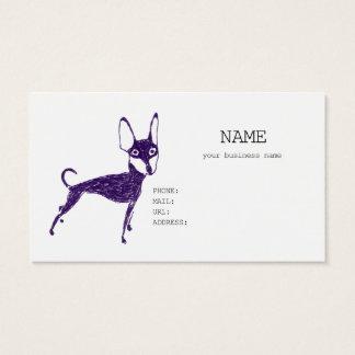 miniature pinscher business card