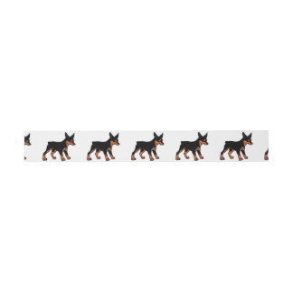 miniature pinscher cartoon invitation belly band