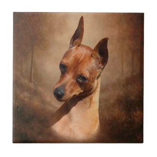 Miniature Pinscher Ceramic Photo Tile