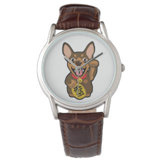 Miniature Pinscher Chocolate Min Pin Dog Watch