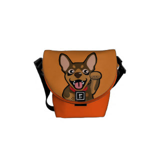 Miniature Pinscher Chocolate Min Pin Messenger Bag