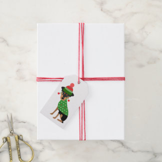 Miniature Pinscher Christmas Gift Tags Pack Of Gift Tags