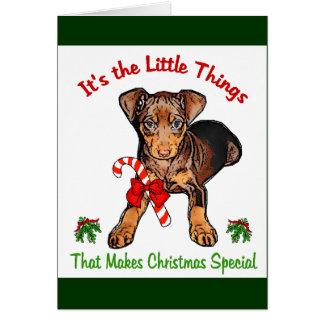 Miniature Pinscher Christmas Gifts Card
