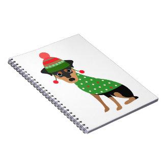 Miniature Pinscher Christmas Notebook