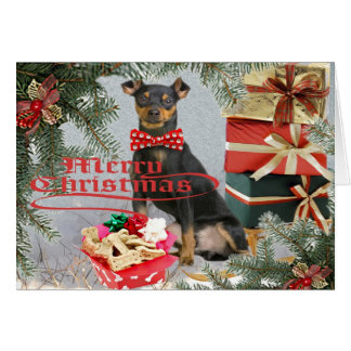 Miniature Pinscher Christmas to Your family Cards