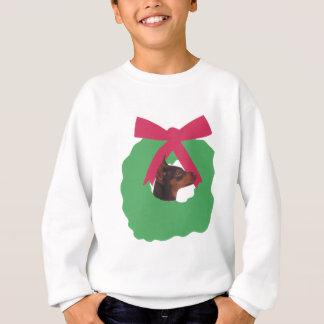Miniature Pinscher Christmas Wreath Sweatshirt