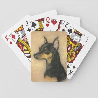 Miniature Pinscher Dog Art Playing Cards