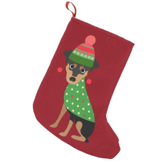 Miniature Pinscher Dog Christmas Stocking