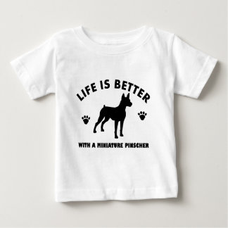 Miniature Pinscher dog design Baby T-Shirt