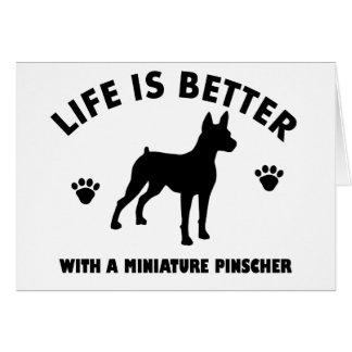 Miniature Pinscher dog design Card