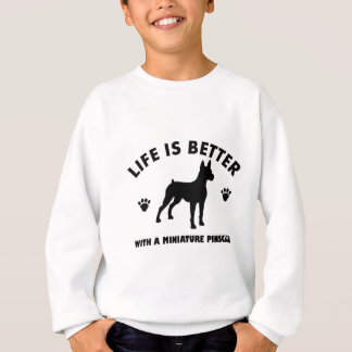 Miniature Pinscher dog design Sweatshirt