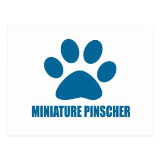 MINIATURE PINSCHER DOG DESIGNS POSTCARD