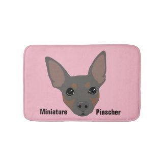 Miniature Pinscher Dog Portrait Bathroom Mat