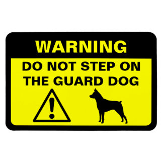 Miniature Pinscher Guard Dog Warning Rectangular Photo Magnet