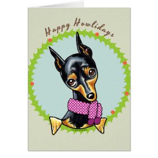 Miniature Pinscher Happy Howlidays Card