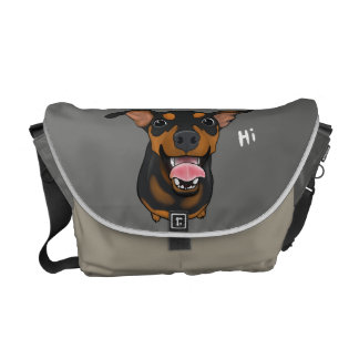 Miniature Pinscher Happy Min Pin Messenger Bag