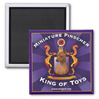 Miniature Pinscher, King of Toys Magnet