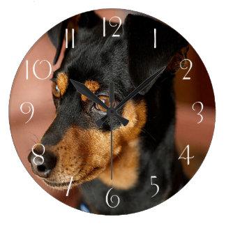 Miniature pinscher large clock