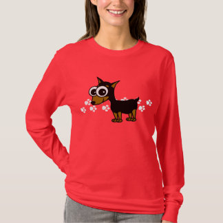 Miniature Pinscher Longsleeve T-Shirt - Red