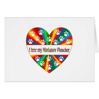 Miniature Pinscher Love Card