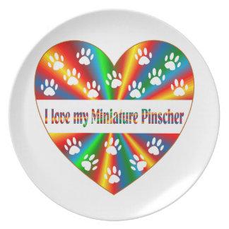 Miniature Pinscher Love Dinner Plate