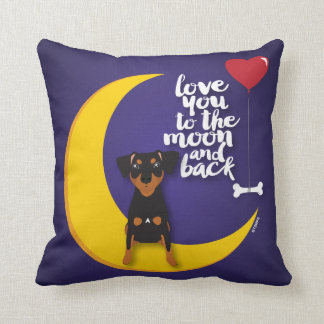 Miniature Pinscher Love You to the Moon Pillow