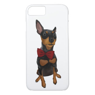 Miniature Pinscher (Min Pin) with Bow iPhone Case