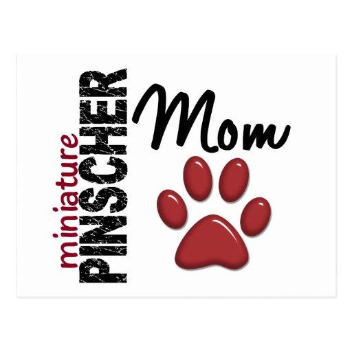 Miniature Pinscher Mom 2 Postcard