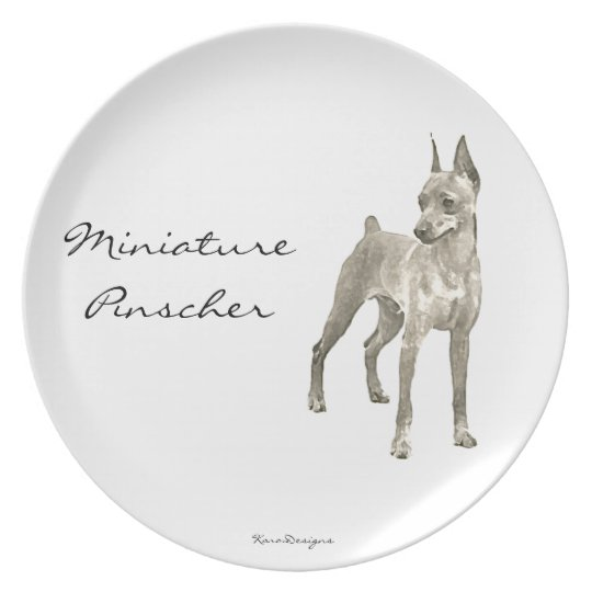Miniature Pinscher ornament Plate