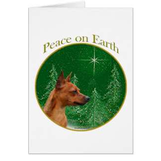 Miniature Pinscher Peace Card