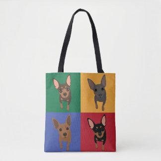 Miniature Pinscher Pop Art Tote Bag