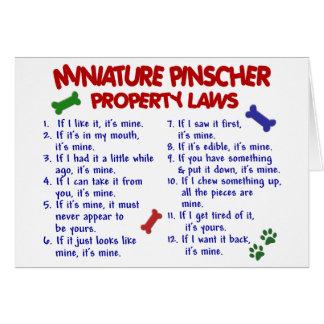 Miniature Pinscher Property Laws 2 Card