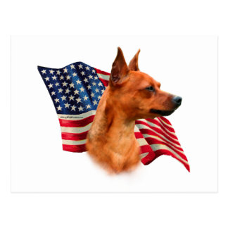Miniature Pinscher (red) Flag Postcard