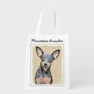 Miniature Pinscher Reusable Grocery Bag