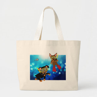 Miniature Pinscher Scuba Diving Under the Sea Tote