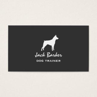 Miniature Pinscher Silhouette Business Card