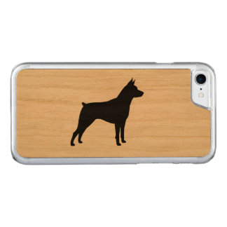 Miniature Pinscher Silhouette Carved iPhone 7 Case