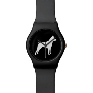 Miniature Pinscher Silhouette Watch